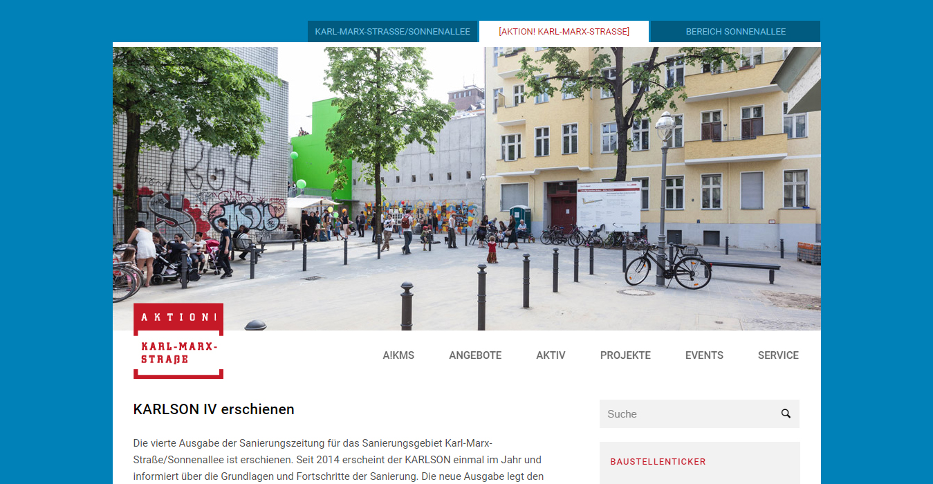 Aktion KMS, Website mit Blog - WordPress / Enfold