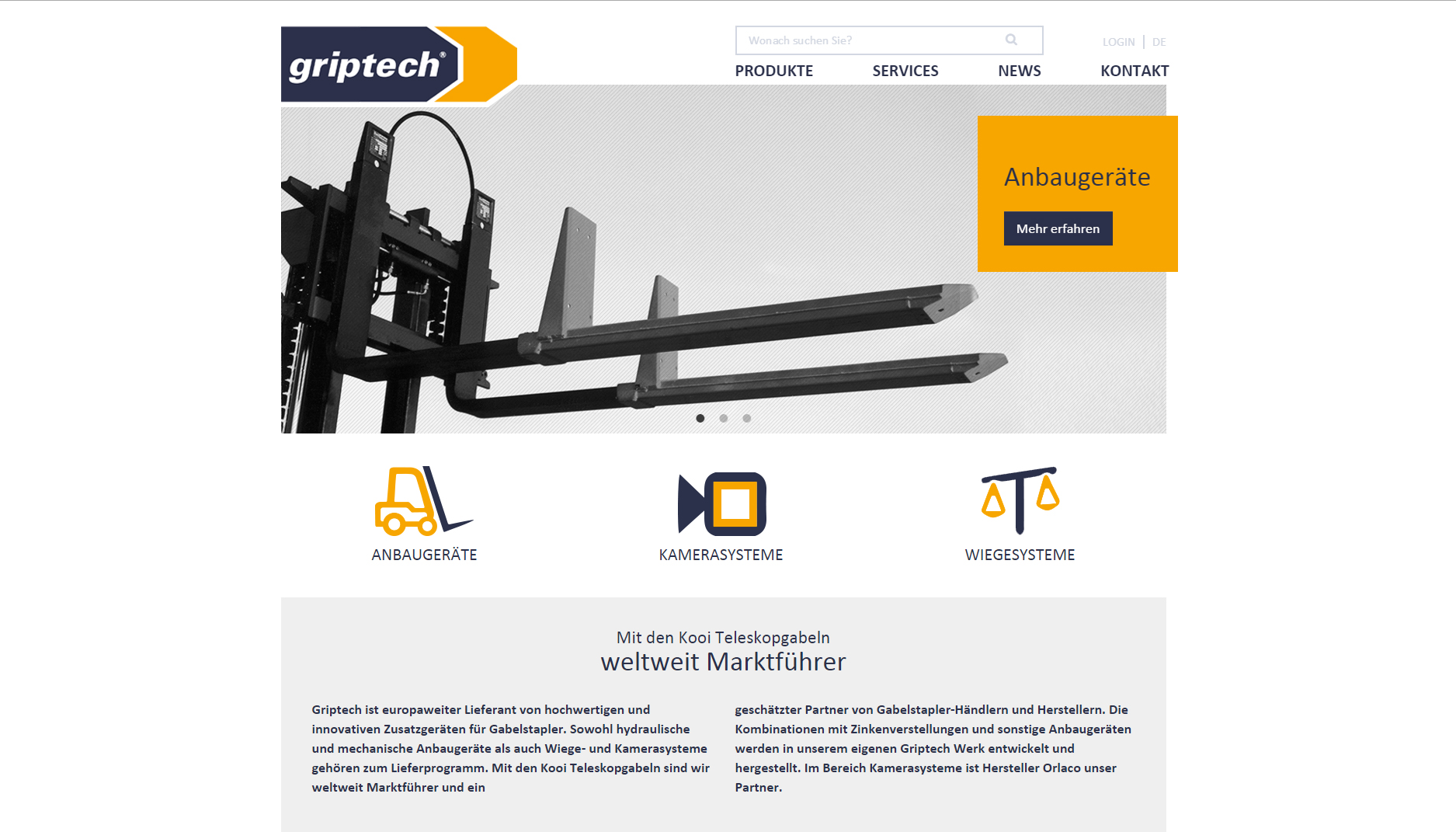 Griptech - CMS Typo3 Website