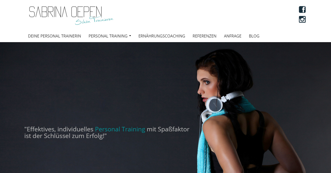 Saprina Oepen - Responsive HTML-Website